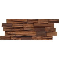 INDO Wood wall covering Bangkirai BCL03CO Coffee FSC 100% 18 x 500 x 200 MM