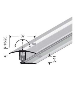 PPS Transition profile 7 - 17 MM Silver anodized 17 x 37 x 900 MM